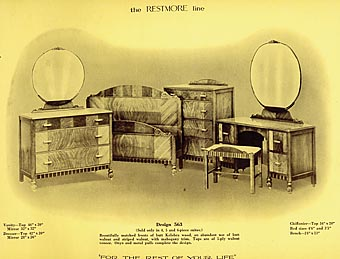 Genial Design 536, The Restmore Line, Restmore Manufacturing Company Ltd.,  Vancouver, British Columbia, 1938