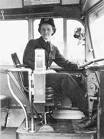 Week Four B Textiles Clothing Fashion Bus Driver In Uniform Vancouver British Columbia 1942
