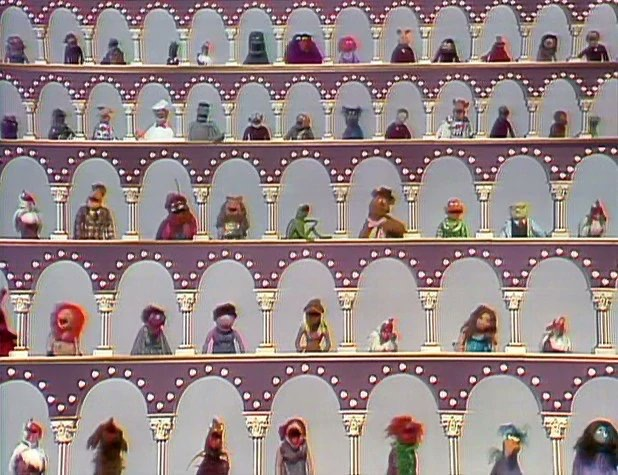 Image of the opening credits of the Muppet Show