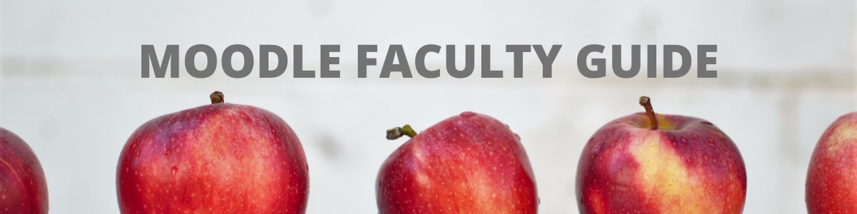 apples and faculty moodle guide
